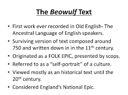 Beowulf Characteristics Of An Epic Hero Chart Ppt Beowulf Literary Unit Powerpoint Presentation Id 2247602