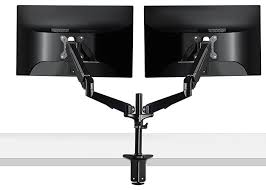 dual monitor mounting arm cool office gadgets for your desk 84 examples