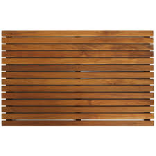 Bare Decor Zen Large Oiled Solid Teak Shower Mat - Free Shipping Today -  Overstock.com - 16290322