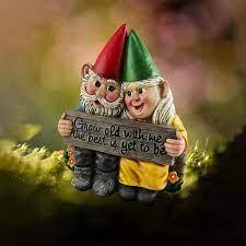 garden gnome dwarf couple resin