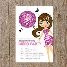 Childrens Disco Invitations Disco Party Invitations Pink Disco Party Disco Invites