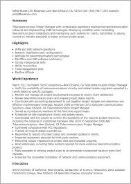 Telecom Project Manager Cover Letter Cv Hola Klonec Co