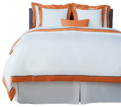 lacozi sateen persimmon pintuck duvet cover set queen