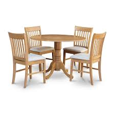 East West Furniture Dublin 5 Piece Kitchen Table Set Round Table