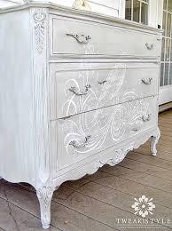 diy vintage furniture. 01 - Tweak And Style Hand Painted Dresser Diy Vintage Furniture