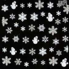 Acquista New 3d Nail Art Tips Natale Pupazzo Di Neve Fiocchi Di Neve