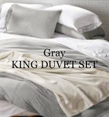 calvin klein gray modern cotton jersey king duvet set msrp 250