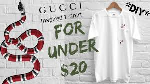 gucci inspired t shirt. *diy* gucci snake tshirt under $20 gucci inspired t shirt