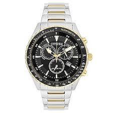 watches h samuel citizen eco drive men s two colour steel bracelet watch product number 3565939