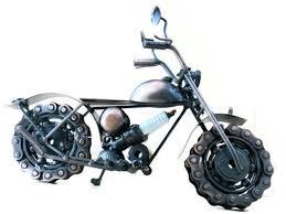 amazon com steampunk metal motorcycle sculpture road king model