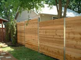 horizontal wood fence with metal posts. Plain Horizontal Metal Fence Posts For Wood Photo With Horizontal