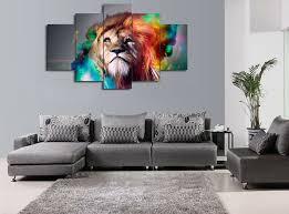 stunning design living room canvas wall art unframed 5 piecesset animal wall art canvas painting colour  on wall art canvas for living room with living room canvas wall art living room ideas