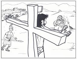 Coloring Picture Of Jesus On The Cross Jesus On Cross Coloring Page