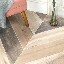 wood look porcelain tile installation cost chevron