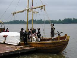 matt boats lewis and clark project d period this is a picture of the keel boat when it is set up for any meals that they would eat