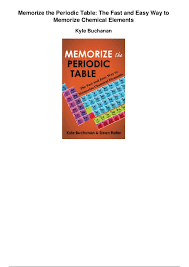 Memorize the periodic table the fast and easy way to memorize chemica…