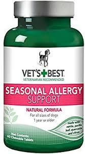 Amazon.com : Vet's Best Seasonal Allergy Relief Dog Supplements, 60 ...