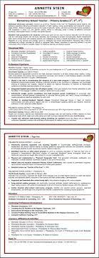 Sample Of Resume For Teachers In Elementary New Resume Examples
