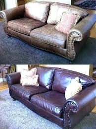 repairing leather furniture repair torn couch tear before and after kit how to fix ripped faux
