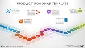 Project Roadmap Templates Six Phase Software Timeline Roadmap Powerpoint Template