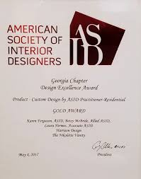 Harrison Design Interior Design Studio Awarded At The 40 Georgia Amazing Asid Interior Design