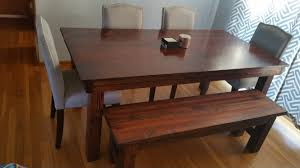 rustic kitchen table with bench. Diy Rustic Dining Table Bench Albu On Kitchen Chronicles Building A Fancy With