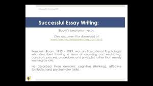 successful essay writing using bloom s taxonomy  successful essay writing using bloom s taxonomy