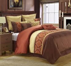 plush design rust comforter set colored sets ironkrieger com fashionable cream bedding 7 micro suede brown and throughout decorations 13