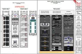 Rack Elevation for Custom Home Theater and Home Automation Crestron  Parasound Marantz THX