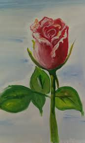 easy watercolor rose painting