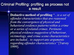 criminal profiling fbi vi cap investigative psychology  54 criminal