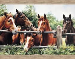 Pleasant Pastures Horse Fabric Panel 34