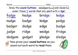 Esl phonics & phonetics worksheets for kids download esl kids worksheets below, designed to teach spelling, phonics, vocabulary and reading. Phase 5 Alternative Spellings For J Fudge Gentle Table And Sentence Cards And Ppt Teaching Resources