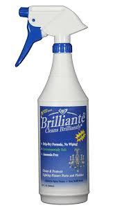 brilliante crystal chandelier cleaner manual sprayer 32oz environmentally safe ammonia free drip