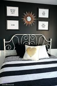 Black And White Wall Decor For Bedroom Large Size Of Black Vinyl ...