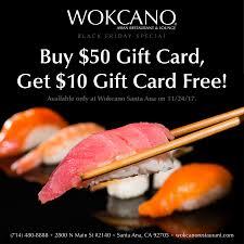 black friday deal 50 gift card get 10 gift card free santa ana