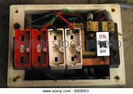 fuse box old fuses stock photo royalty image 123046941 alamy old style wire fuse box no fuses installed stock photo