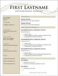 Free Resume Layout Classy Free Resume Layout Sonicajuegos