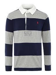 children s polo ralph lauren clothing polo ralph lauren boys block stripe rugby top navy tops t shirts