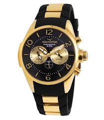 mens sport watches mens watches gold and black aquaswiss men s trax 5 hand watch black gold tr805003