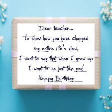 Teacher Message Birthday Wishes For Teachers Quotes And Messages