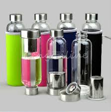 best bpa free glass sport water bottle with tea filter infuser protective bag 550ml fruit outdoor eco friendly 1 liter reusable water bottles 1 litre