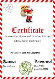 Printable Christmas Certificates Santa Claus Certificate Template] The Printable Santas Nice List 35