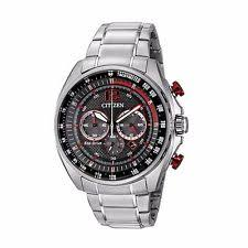 men s citizen watches new used gold platinum citizen eco drive men s ca4190 54e chronograph red accents black dial 45mm watch