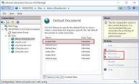 Hosting static web page - Microsoft IIS 10.0 Cookbook