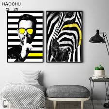 yellow white wall art