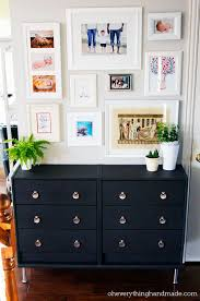 A Modern Version for the Hallway with this simple and inexpensive IKEA Rast  3 drawer chest.