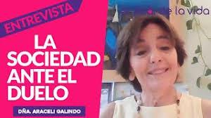 La sociedad ante el duelo. Dña. Araceli Galindo - YouTube