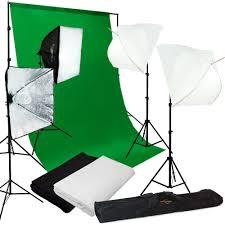 lusana studio photography kit 4 light bulb umbrella muslin 3 backdrop stand set studio equipment