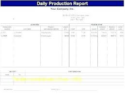 Productivity Report Template Excel Daily Production Report Template